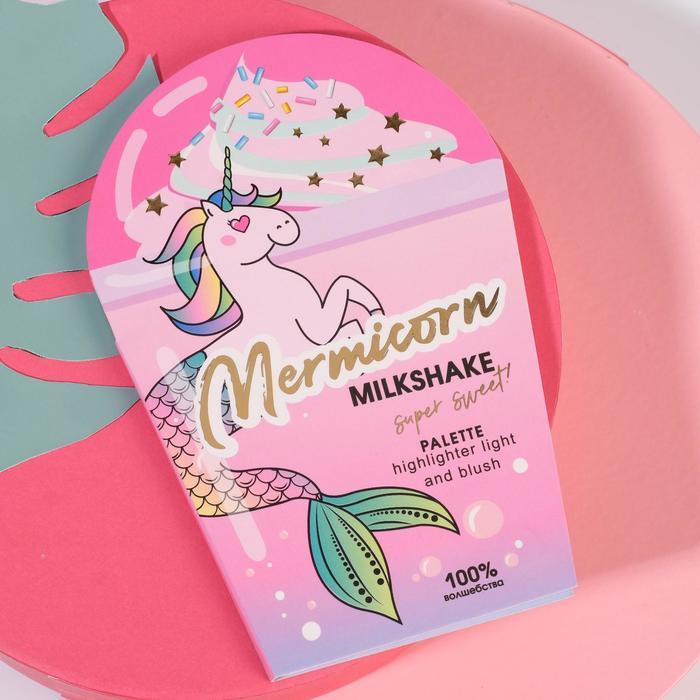 Палетка для невероятного макияжа Beauty Milkshake, румяна и хайлайтер