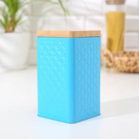 Банка для сыпучих продуктов «Ромб», 17,5×10×10 см, цвет голубой