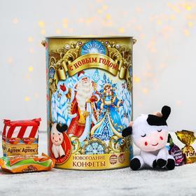 Сладкий детский подарок «С Новым годом»: конфеты шоколадные, игрушка