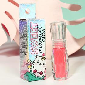 """Блеск с эффектом увеличения объёма губ """"Mermicat Glow"""", оттенок нежно-розовый"""