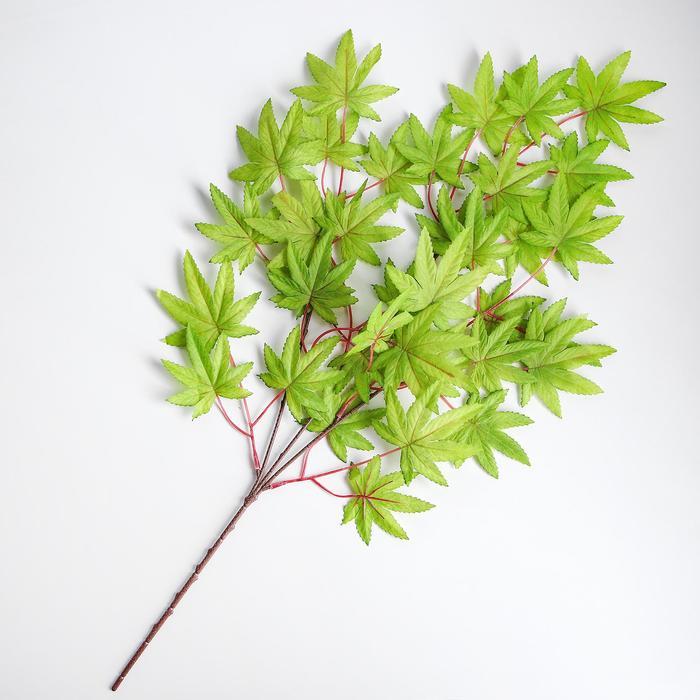 Декор «Листья на ветке» цвет зелёный - фото 421985