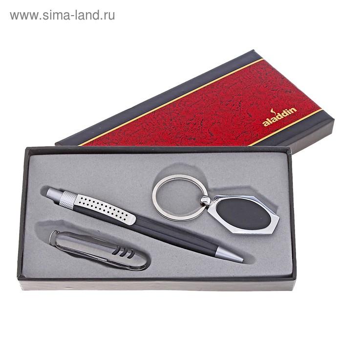 Набор подарочный 3в1: ручка, брелок, нож
