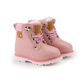 Ботинки детские, цвет розовый, размер 21