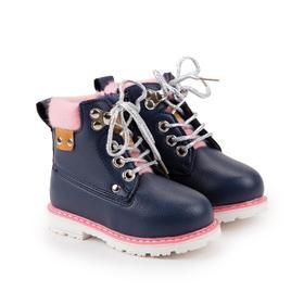 Ботинки детские, цвет синий, размер 22