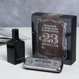 Набор: парфюм 100 мл и павер банк 4500 mAh «С 23 февраля»