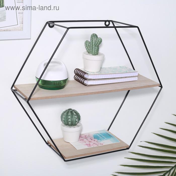 """Shelf 2-tier """"Loft"""" 37×11.5×32.5 cm, color black"""