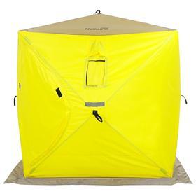 Палатка зимняя Helios «Куб» 1,8 × 1,8 м, цвет yellow/gray