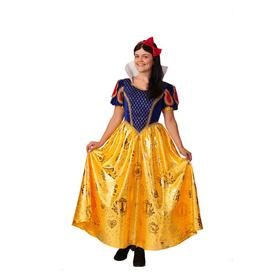 Карнавальный костюм «Белоснежка», платье, повязка, р. 44-46