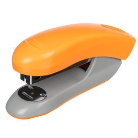 Степлер №24/6 и 26/6, до 20 листов deVENTE пластиковый корпус, встроенный антистеплер, неоновый оранжевый