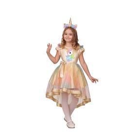 Карнавальный костюм «Единорожка», платье, головной убор, р. 34, рост 134 см
