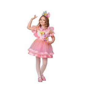Карнавальный костюм «Пироженка-мороженка», платье, головной убор, р. 26, рост 104 см