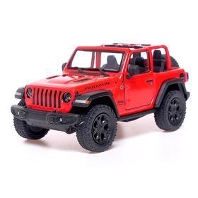 Машина металлическая Jeep Wrangler , 1:34, открываются двери, инерция, МИКС