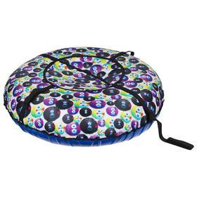 Тюбинг-ватрушка «Вихрь Эконом» принт «Чудики», диаметр 120 см