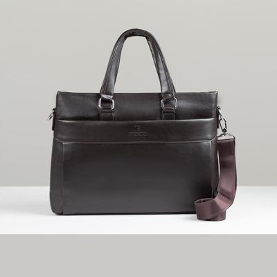 Case bag L-A44, 38*5*25, zippered otd with pereg, n / a pocket, brown