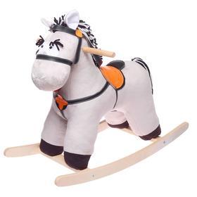 Качалка «Конь Свэн», цвет серый