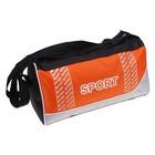 Сумка спортивная Sport, 1 отдел, регулируемый ремень, цвет оранжево-черный