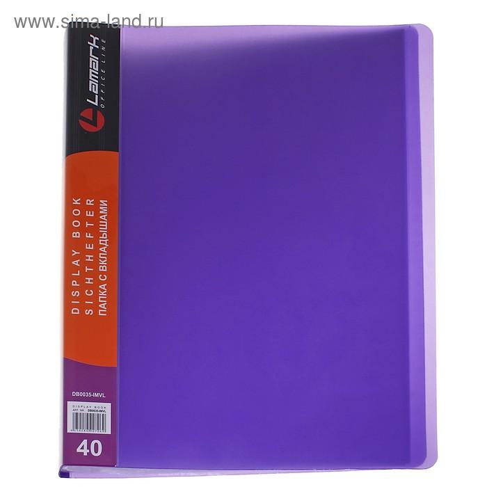 Папка с 40 прозрачными вкладышами А4, 800мкм, iMac, флюоресцентная фиолетовая, полупрозрачная