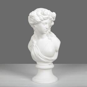Гипсовая фигура, Бюст Флора, 17.5 х 17 х 40 см
