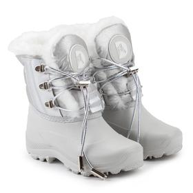 Ankle boots for children, pearl color, size 26