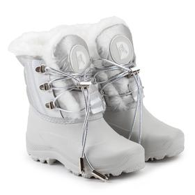 Ankle boots for children, pearl color, size 34