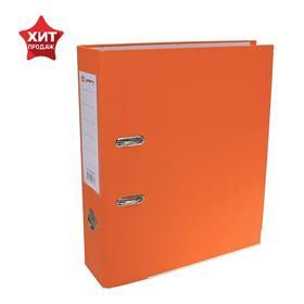 Папка-регистратор А4, 80мм Lamark ПП, металлический уголок, Оранжевый Ош