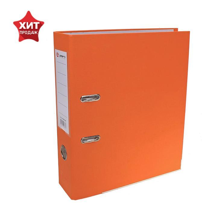 Папка-регистратор А4, 80 мм, PP Lamark, оранжевый, металлический уголок, разобранный