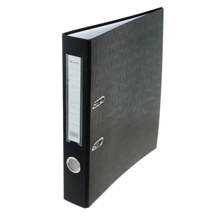 Папка-регистратор А4 50мм Lamark металлический уголок, черная