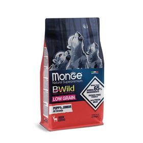Сухой корм Monge Dog BWild LOW GRAIN Puppy & junior низкозерновой для щенков, олень, 2,5 кг   545004