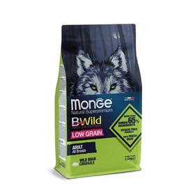 Сухой корм Monge Dog BWild LOW GRAIN низкозерновой для собак, из мяса дикого кабана, 2,5 кг   545005