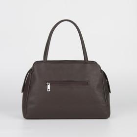 Сумка женская, отдел на молнии, наружный карман, цвет коричневый - фото 53595