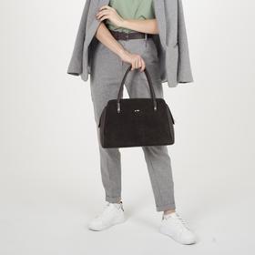 Сумка женская, отдел на молнии, наружный карман, цвет коричневый - фото 53597