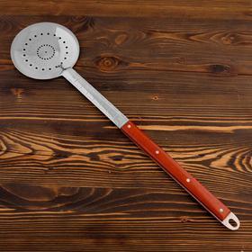 Шумовка для казана узбекская 65см, диаметр 16см, с деревянной ручкой