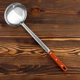 Поварешка для казана узбекская 42см, диаметр 14см с деревянной ручкой