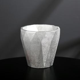 {{photo.Alt || photo.Description || 'Кашпо из гипса «Полигональ», цвет серебряный, 10.5 × 11 см'}}