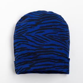 Шапочка для девочки, цвет синий, размер 40-44