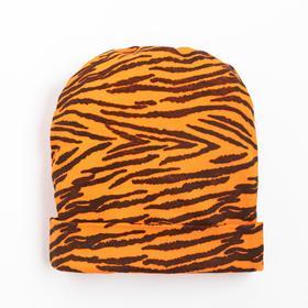 Шапочка для девочки, цвет оранжевый, размер 40-44