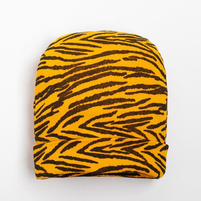 Шапочка для девочки, цвет жёлтый, размер 40-44 - фото 1963960