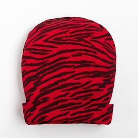 Шапочка для девочки, цвет красный, размер 40-44