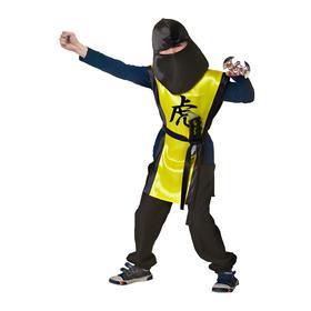 Карнавальный костюм «Ниндзя: жёлтый тигр» с оружием, р. 28, рост 98-104 см