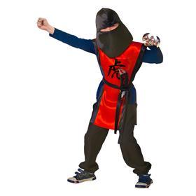 Карнавальный костюм «Ниндзя: красный тигр» с оружием, р. 28, рост 98-104 см