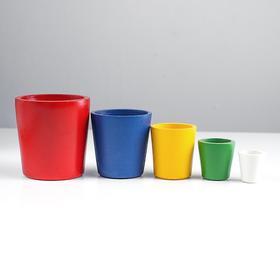 Цилиндрики стакан (5 в 1) краш.