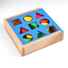 Ящик Сегена с объёмными фигурами (9 дет.)