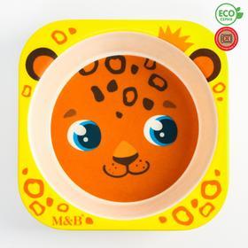Миска из бамбука детская «Леопард»