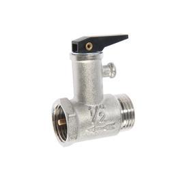 """Предохранительный клапан ZEIN, для водонагревателя, 1/2"""", с курком, латунь, никелированный"""