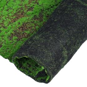 Мох искусственный, декоративный, полотно 1 × 1 м, рельефный, с щепой, зелёный