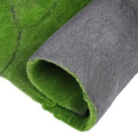 Мох искусственный, декоративный, полотно 1 × 1 м, рельефный, горный, зелёный