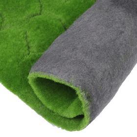 Мох искусственный, декоративный, полотно 1 × 1 м, рельефный, бугры, зелёный