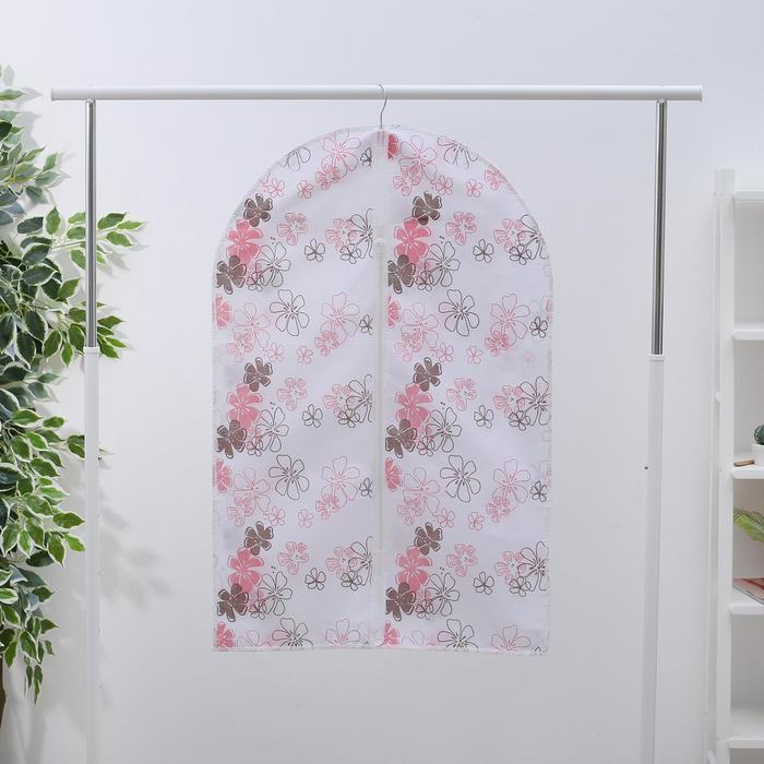 Чехол для одежды, 60×90 см, спанбонд, цвет МИКС - фото 4640134