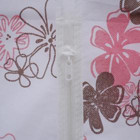 Чехол для одежды, 60×90 см, спанбонд, цвет МИКС - фото 4640137