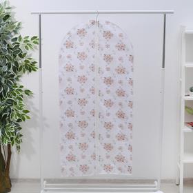 Чехол для одежды, 60×137 см, спанбонд, цвет МИКС - фото 4640129